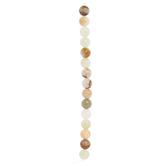 Brown & Yellow Jade Round Bead Strand