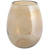 Gold Luster Dimpled Glass Vase