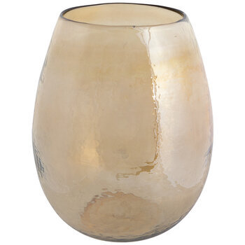 Gold Luster Dimpled Glass Vase