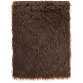 Brown Dense Faux Fur