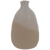 Cream Asymmetric Vase