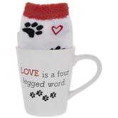 Love Is Four Legged Paw Print Mug & Socks