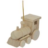 Wood Train Ornament