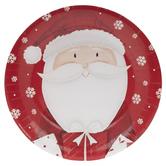 Santa & Snowflake Paper Plates - Large