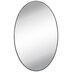 Black Matte Oval Metal Wall Mirror
