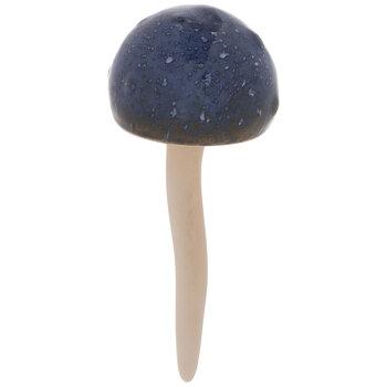 Blue Round Mushroom Garden Stake