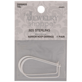Sterling Silver Narrow Hoop Earrings