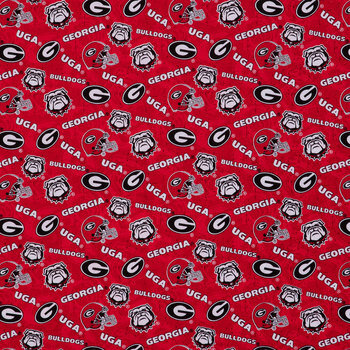 Georgia Allover Collegiate Fabric