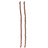 Brown Sandstone Round Glass Bead Strand