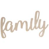 Family Script Wood Decor