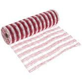 """Red & White Plaid Deco Mesh Ribbon - 10"""""""