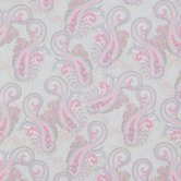 Pastel Paisley Cotton Calico Fabric