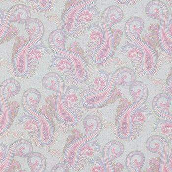 Pastel Paisley Cotton Calico Fabric