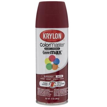 Burgundy Krylon ColorMaster Satin Spray Paint & Primer