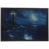 Lighthouse Lenticular Wood Wall Decor