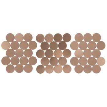 Rose Gold Round Mosaic Tiles