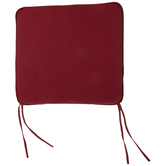 Red Tie Back Chair Cushion