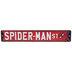 Spider-Man Street Metal Sign