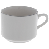 White Mug With Gray Rim
