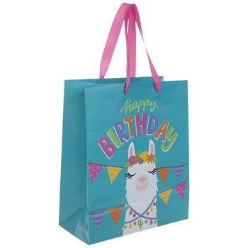 Happy Birthday Llama Gift Bag