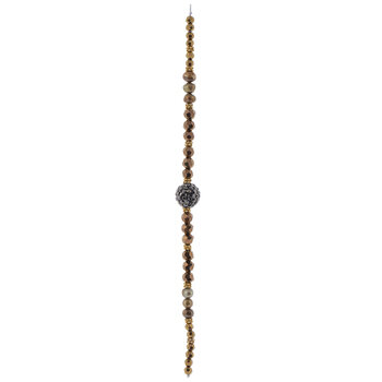 Brown Faceted Glass Bead Strand