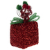 Red & Green Metallic Gift Box Place Card Holder