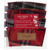 Plaid Cup Cozies