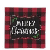 Merry Christmas Buffalo Check Napkins