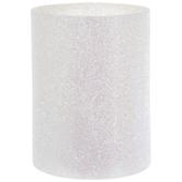 White Glitter LED Candle