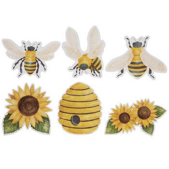 Bumble Bees Watercolor Cutouts