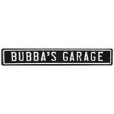 Bubba's Garage Metal Sign