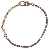"Olive Opal Rosary Chain Bracelet - 7 1/2"""