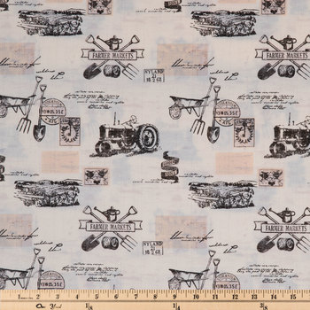 Vintage Tractor Duck Cloth Fabric