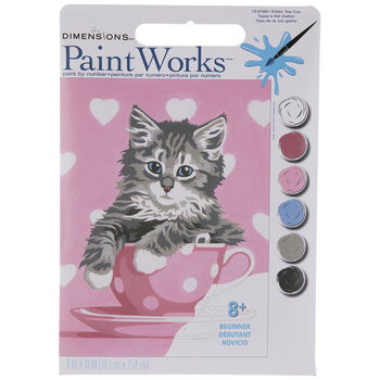 Kitten Tea Cup Paint By Number Kit