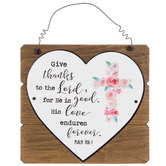 Psalm 106:1 Give Thanks Wood Wall Decor