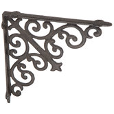 Brown Scroll Metal Bracket - 10""