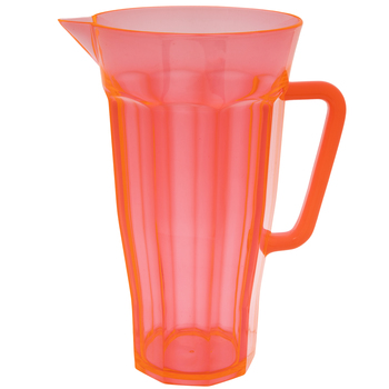 Orange Transparent Pitcher