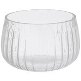 Ridged Glass Bowl