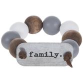 Family Beaded Wood Napkin Ring