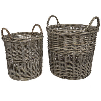 Rustic Willow Basket Set