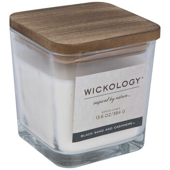 Black Sand & Cashmere Wood Wick Jar Candle