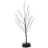 Light Up Black Wire Birch Tree