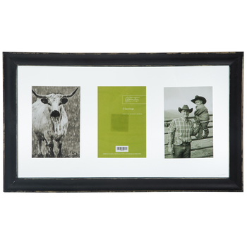 Black Distressed Float Collage Wall Frame