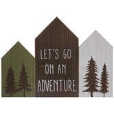 Let's Go On An Adventure Wood Decor