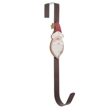 Santa Head Metal Wreath Hanger