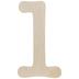 Typewriter Font Wood Number 1 - 18