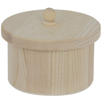 Small Round Wood Box With Lid