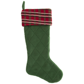 Quilted Stocking With Plaid Cuff