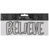 Believe Rhinestone Iron-On Applique