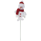 Snowman In Red Hat Pick